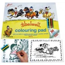 Thelwell kleurboek met kleurpotloden