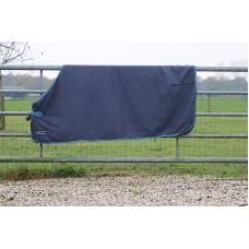 Fleece deken HKM blauw