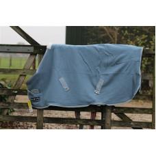 Fleece deken HKM grijsblauw