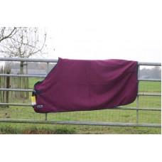 Fleece deken HKM paars
