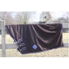 Fleece deken met hals bruin